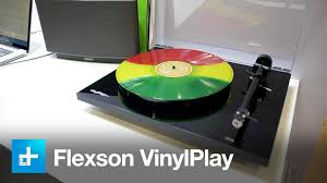 wall mounted record player flexson vinylplay sonos compatible turntable hands on youtube