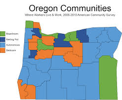 State Of Oregon Map by Map Of The Week Commuting Worker Flows And Oregon Communities