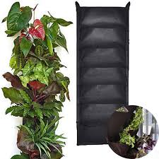 wall mounted herb garden glovion vertical wall mounted planting bags flower grow bag wall