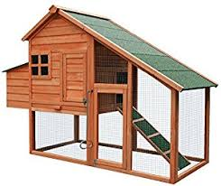 Rabbit Hutch Extension Amazon Com Merax Chicken Coop Wooden House Cage For Small