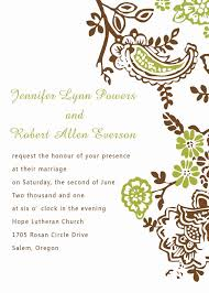 Format Invitation Card Wedding Design Invitation Rectangle Landscape Brown With Ring