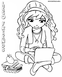 lego girl coloring page lego friends for girls coloring page free download