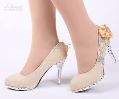 Wedding Shoes Hk Sales Women Fashion High Heeled Shoes Bride Wedding Shoes Gold