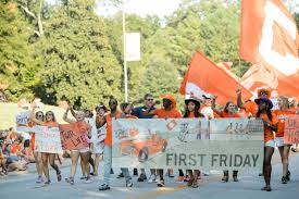 Clemson University Map Clemson University Hosts 42nd First Friday Parade Clemson