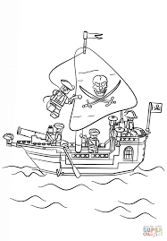 lego pirate ship coloring page free printable coloring pages