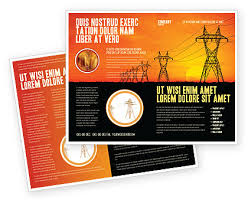 transmission facilities brochure template design and layout
