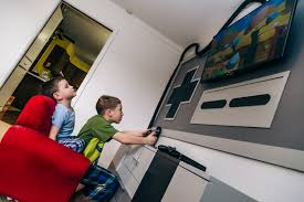 game room ideas turn your entire wall into a giant nintendo