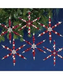 shopping special ruby snowflakes beaded ornament kit