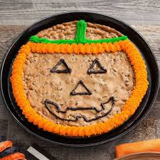 mrs fields cookie cakes mrs fields o lantern cookie cake popsugar food