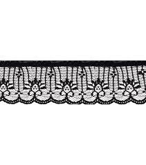black lace trim 1 5 8 black lace apparel trim joann