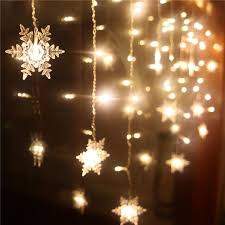 snowflake string of lights wholesale 3 5m snowflake led curtain string lights l for new year