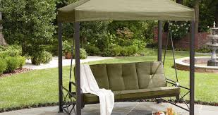 patio u0026 pergola 2 person patio swing superior 3 person polyester