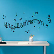 Music Note Wall Decor Musical Notes Wall Sticker Dance In The Wind Music Notation Wall