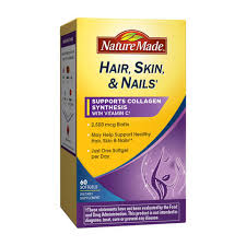 nature made hair skin nails with 2500 mcg of biotin softgels