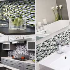mosaic home decor 3d mosaic tiles diy self adhesive wallpaper for kitchen toilet