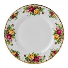 country roses salad plate royal albert us