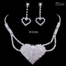 prom jewelry 2018 prom jewelry sets rhinestone jewelry sets with heart bling