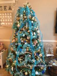 themed christmas decor 30 brilliant coastal chic christmas tree decorating ideas