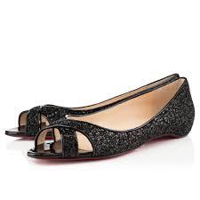 christian louboutin croisette flat sandals black cl 00082