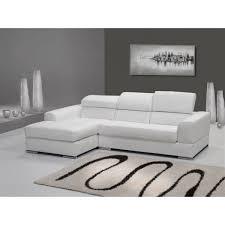 canape madrid canapé d angle 4 places néto madrid eco cuir blanc avec