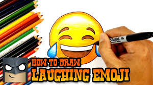 how to draw and color laughing emoji youtube
