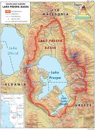 Southeastern Europe Map lake prespa basin map u2014 twrm med