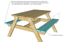 Plans For Picnic Table That Converts To Benches by Picnic Table Bench Plans U2013 Amarillobrewing Co