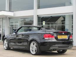 used bmw 1 series convertible used bmw 1 series 2008 model 125i m sport petrol convertible black