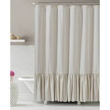 Brown Ruffle Shower Curtain by Coffee Tables Ruffled Ticking Stripe Shower Curtain Black