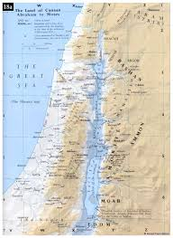 middle east map moses time bible maps precept