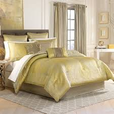Yellow King Size Comforter Bedroom Comforter Sets King With White Door And Wall Sconces Also