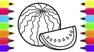 baby watermelon coloring pages coloring book and drawing for kids