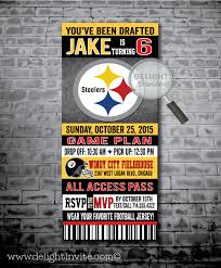 pittsburg steelers football birthday party invitations di 336