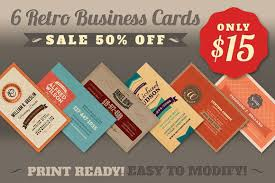sale 6retro business cards 50 business card templates on