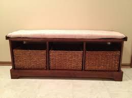 Hallway Storage Ideas Build A Bench With Storage Baskets Home Decorations