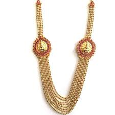 long necklace images Ruby stone gold plated long necklace at rs 900 piece religious jpg