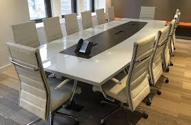 Back Painted Glass Conference Table Glass Top Arnold Contract