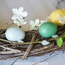 Easter Decorations Rustic by Diy Easter Egg Wreath Hometalk