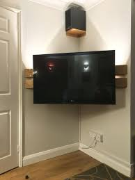 How To Mount Bookshelf Speakers Best 25 Corner Tv Wall Mount Ideas On Pinterest Corner Tv Mount