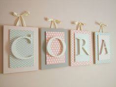 nursery letters custom wall letters pink and by lyricalexpressions