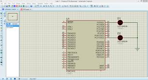 Led Blinking Circuit Diagram Blinking Led Using Atmega32 Microcontroller And Atmel Studio Youtube