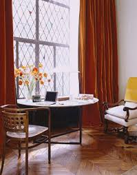 Red Orange Curtains Source For Orange Velvet Curtains Like Ina Garten U0027s Apartment