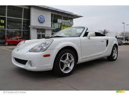 toyota roadster 2005 super white toyota mr2 spyder roadster 78122097 gtcarlot