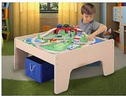 train and track table kids colorful train and track set wooden activity table with storage