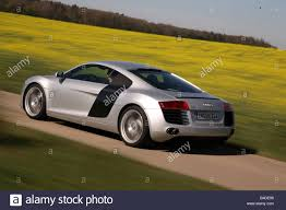 Audi R8 Back - audi r8 4 2 fsi model year 2007 silver driving diagonal from