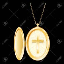 cross locket necklace images Christian cross engraved in golden locket gold chain necklace jpg