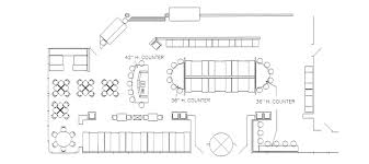 restaurant layout plan plan view exle drawings to facilitate customer purchasing
