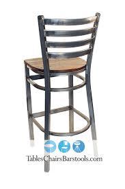 Metal And Wood Bar Stool Gladiator Clear Coat Ladder Back Metal Bar Stool W Reclaimed Barn