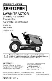 craftsman lawn mower yt 4000 user guide manualsonline inside