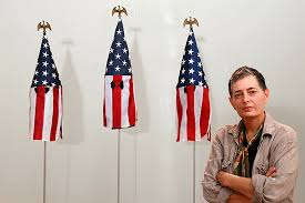 How To Display American Flag On Wall Why This Art Professor Turned American Flags Into Kkk Hoods New